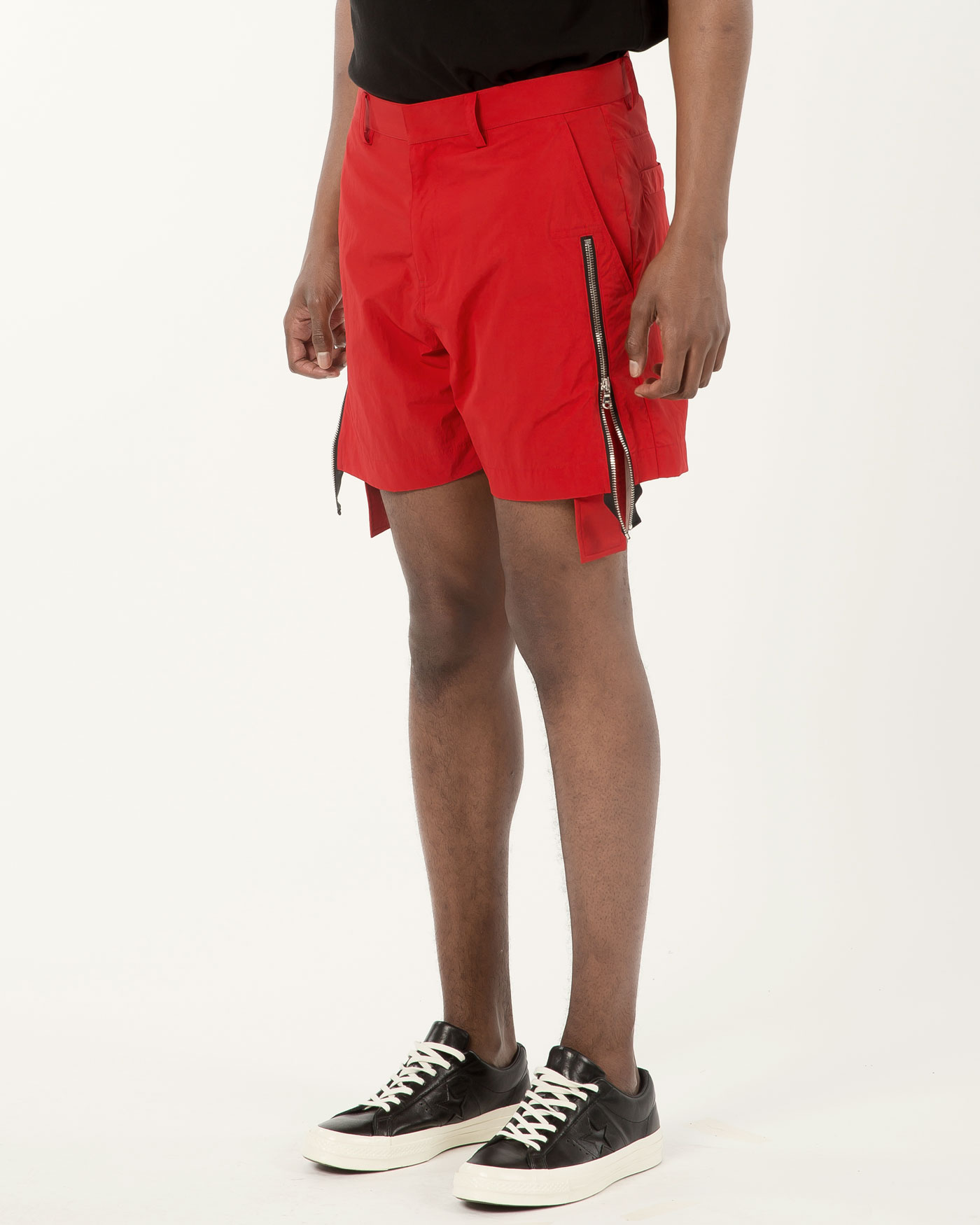 Zipper Shorts Red