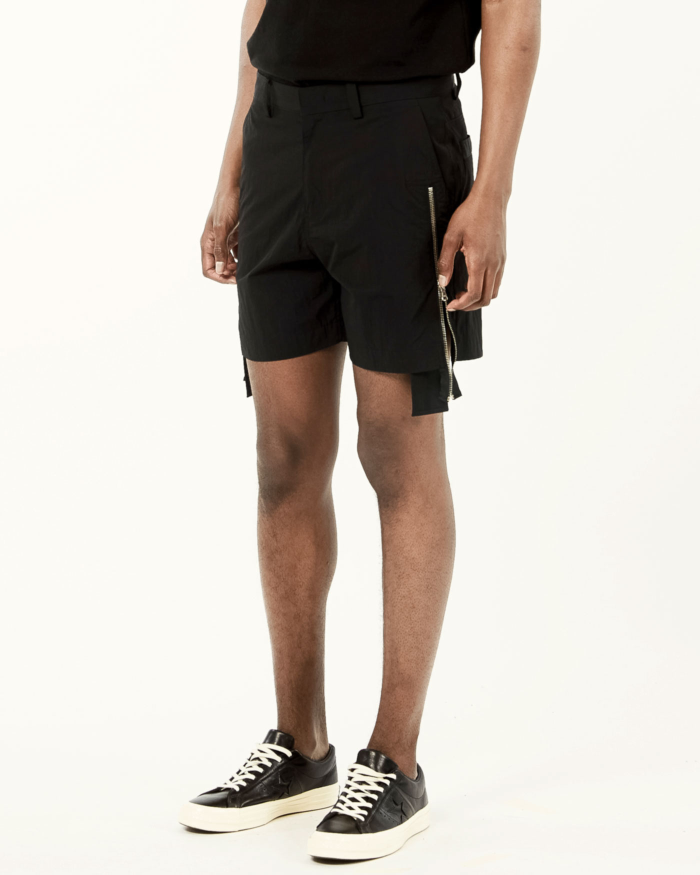 Zipper Shorts Black