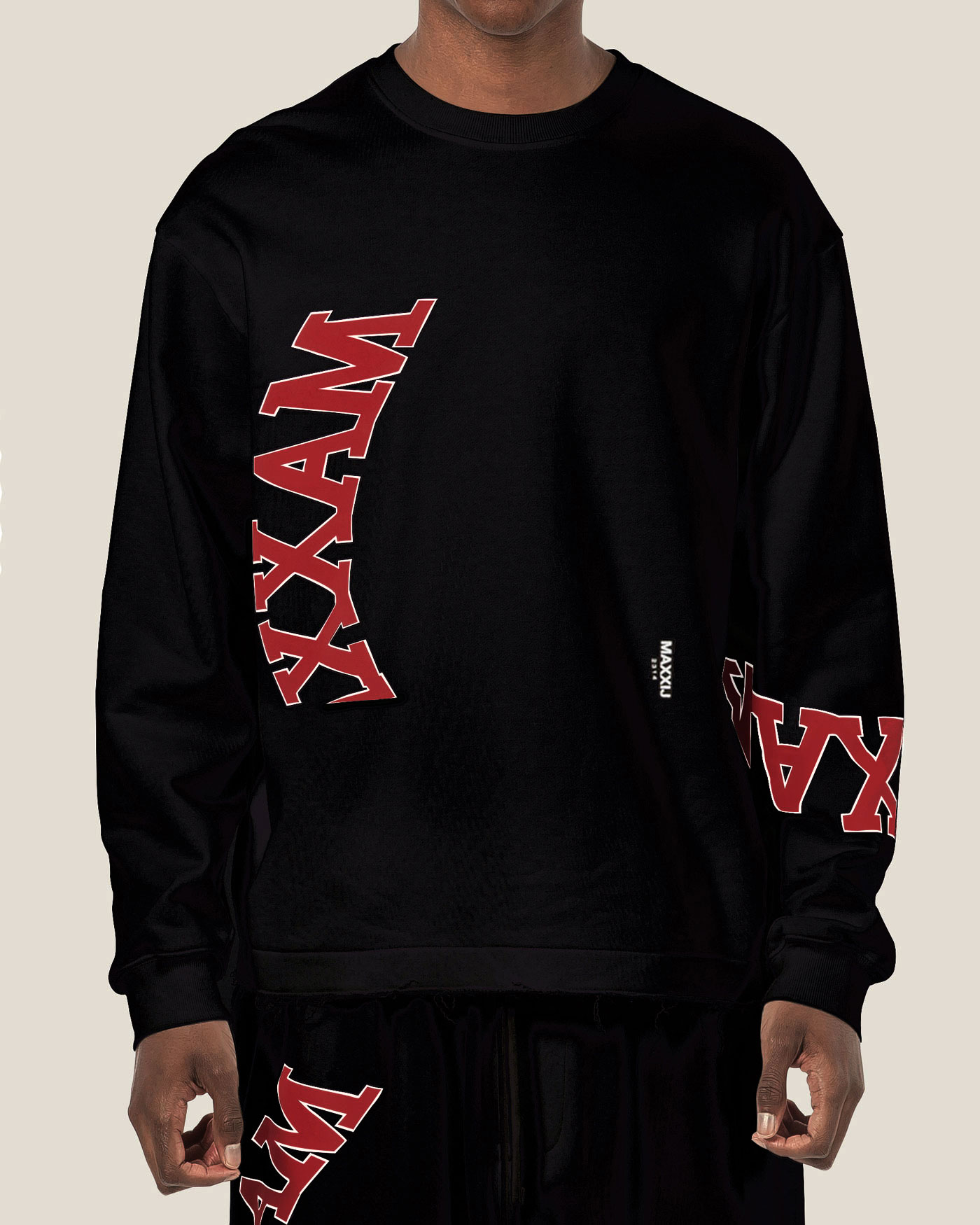 Collage Printed Sweatshirt Black
