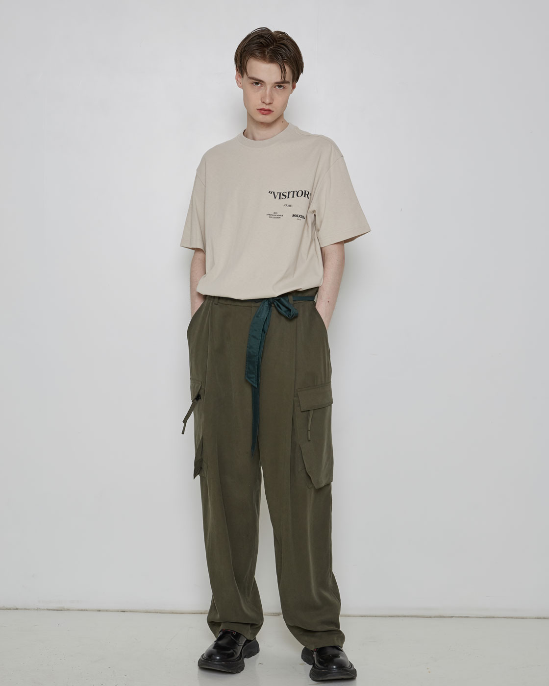 Khaki Loose Cargo Pants