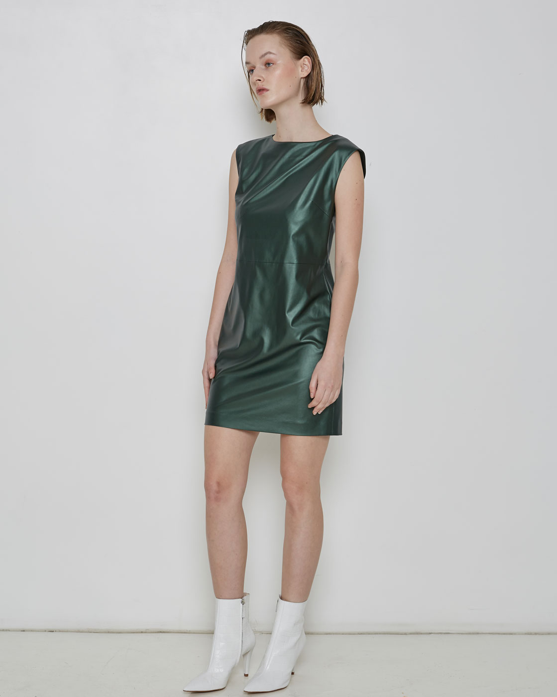 Green Sleevless Tunic Dress