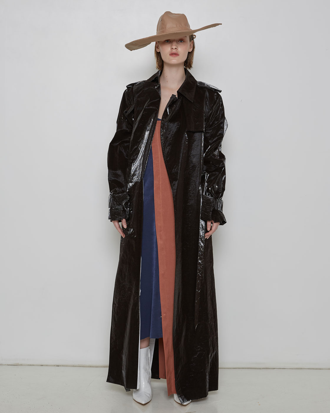 Dark Brown Papery Coat