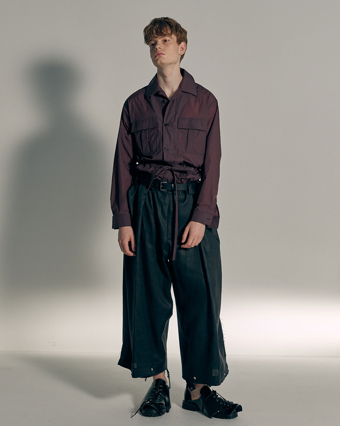 Multi Fabric Signature Wide Trousers