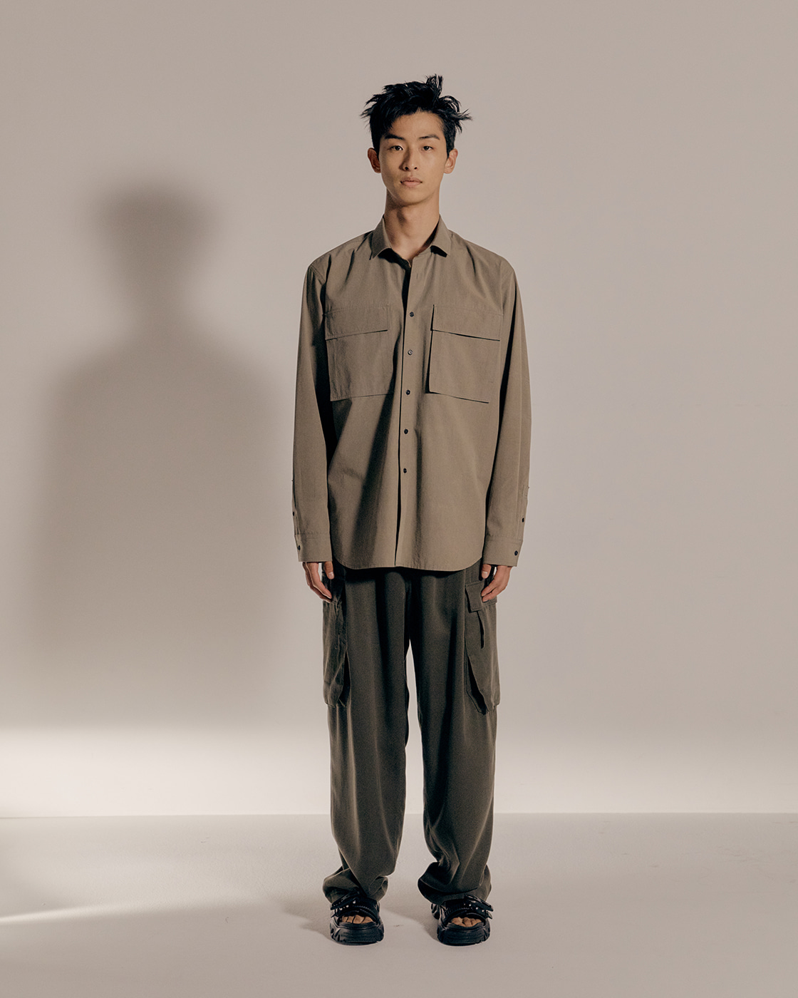 Khaki Oversized Shirt
