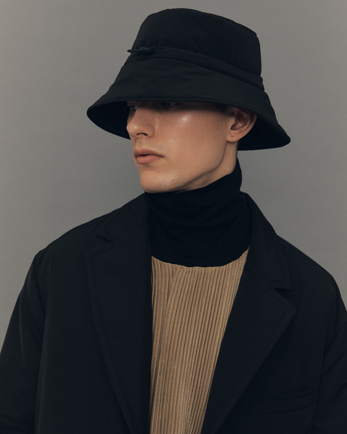 Black Padded Bucket Hat