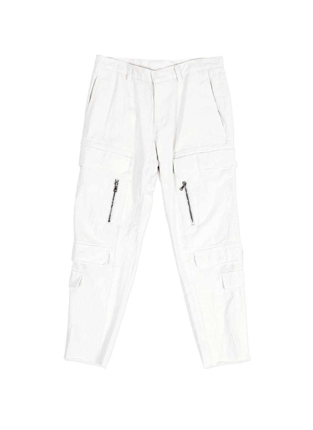 White New Cargo Denim Trousers