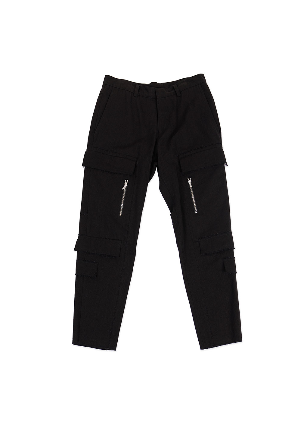 Black New Cargo Denim Trousers