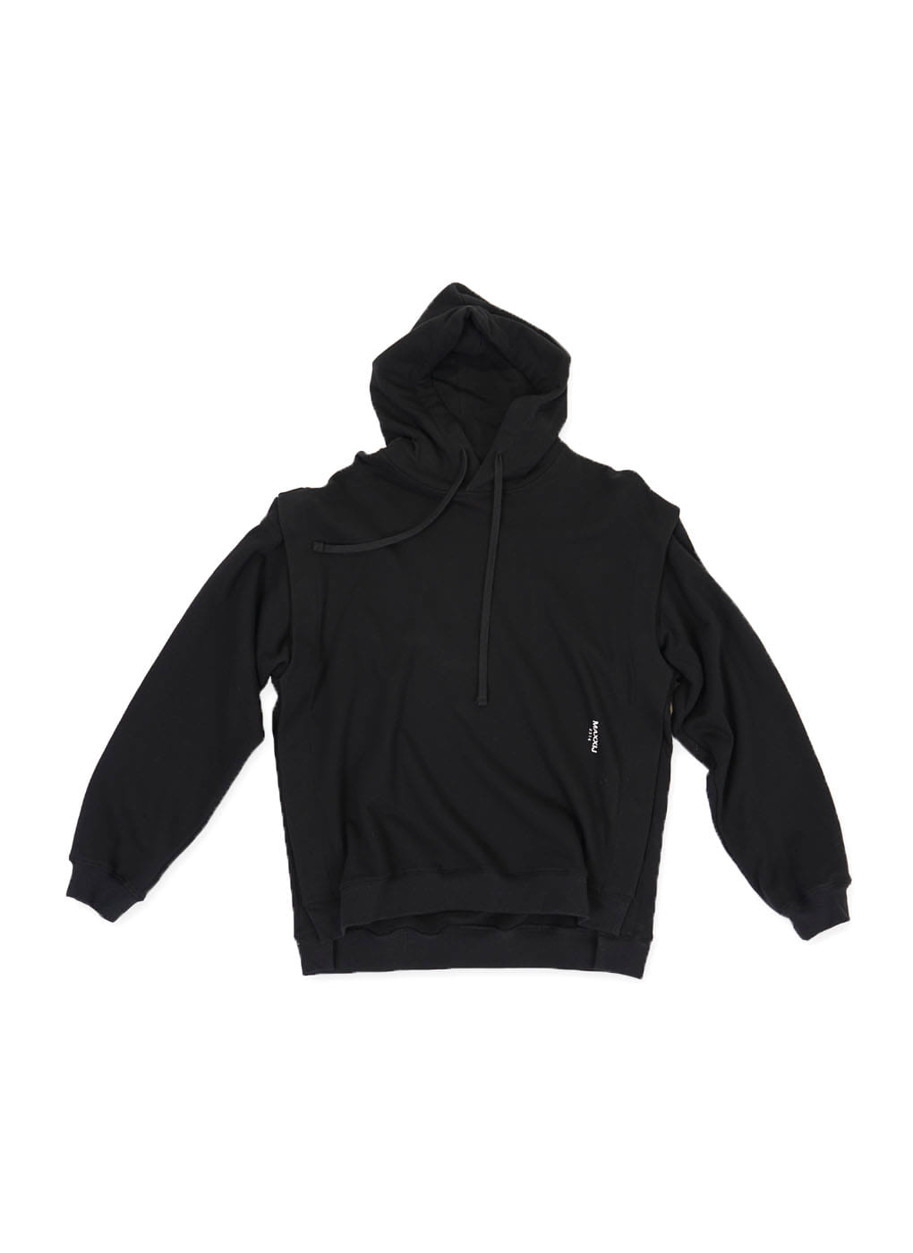 Black Detachable Sleeve Hoodie Sweatshirt