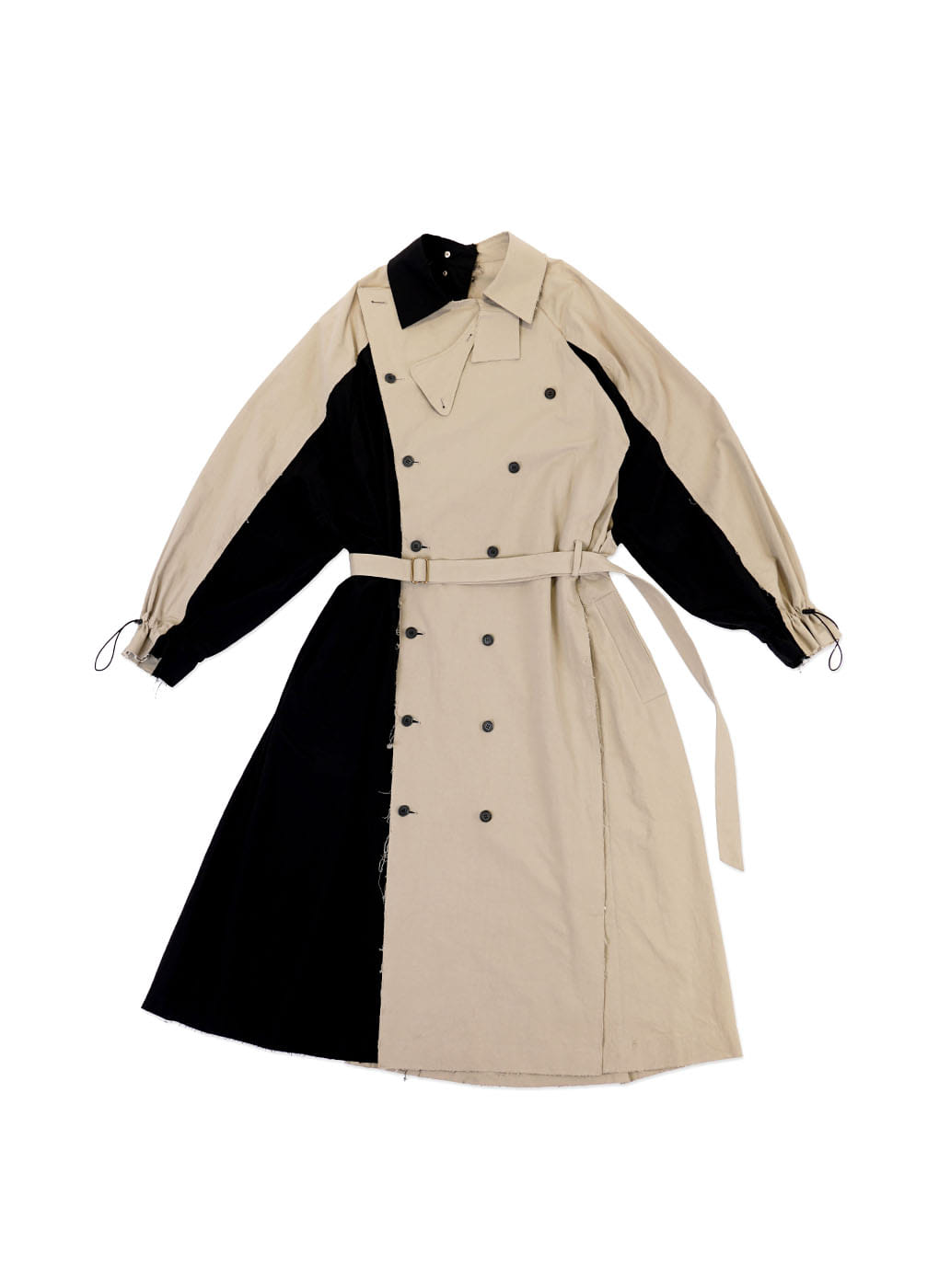 Color Contrast  Pressbutton Oversize Coat