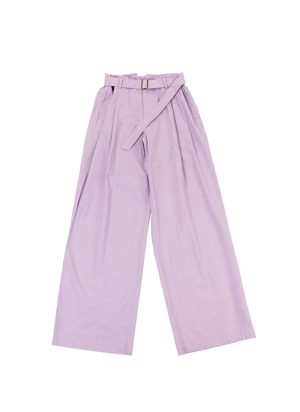 Purple Cotton Loose Trousers