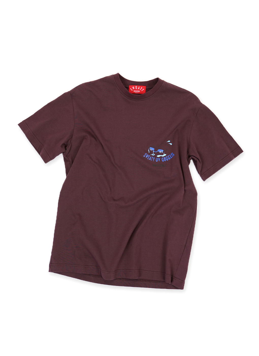 Dark Burgundy Sweaty Goggles Cotton Jersey T-shirts