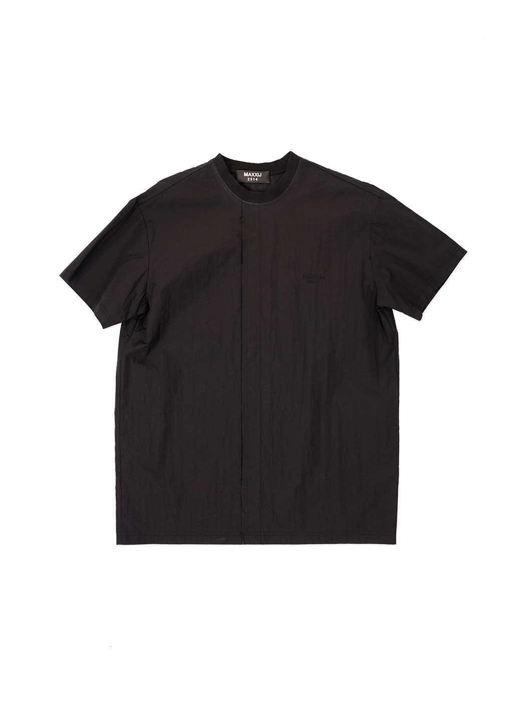 Black Seam Out Basic Woven Top