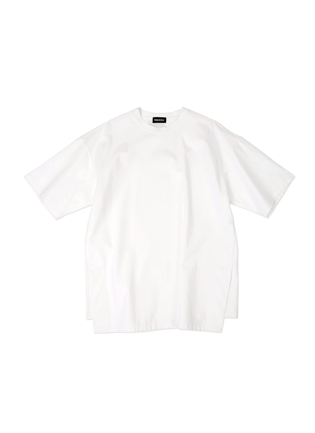 White Oversized Big Logo Printed T-shirt