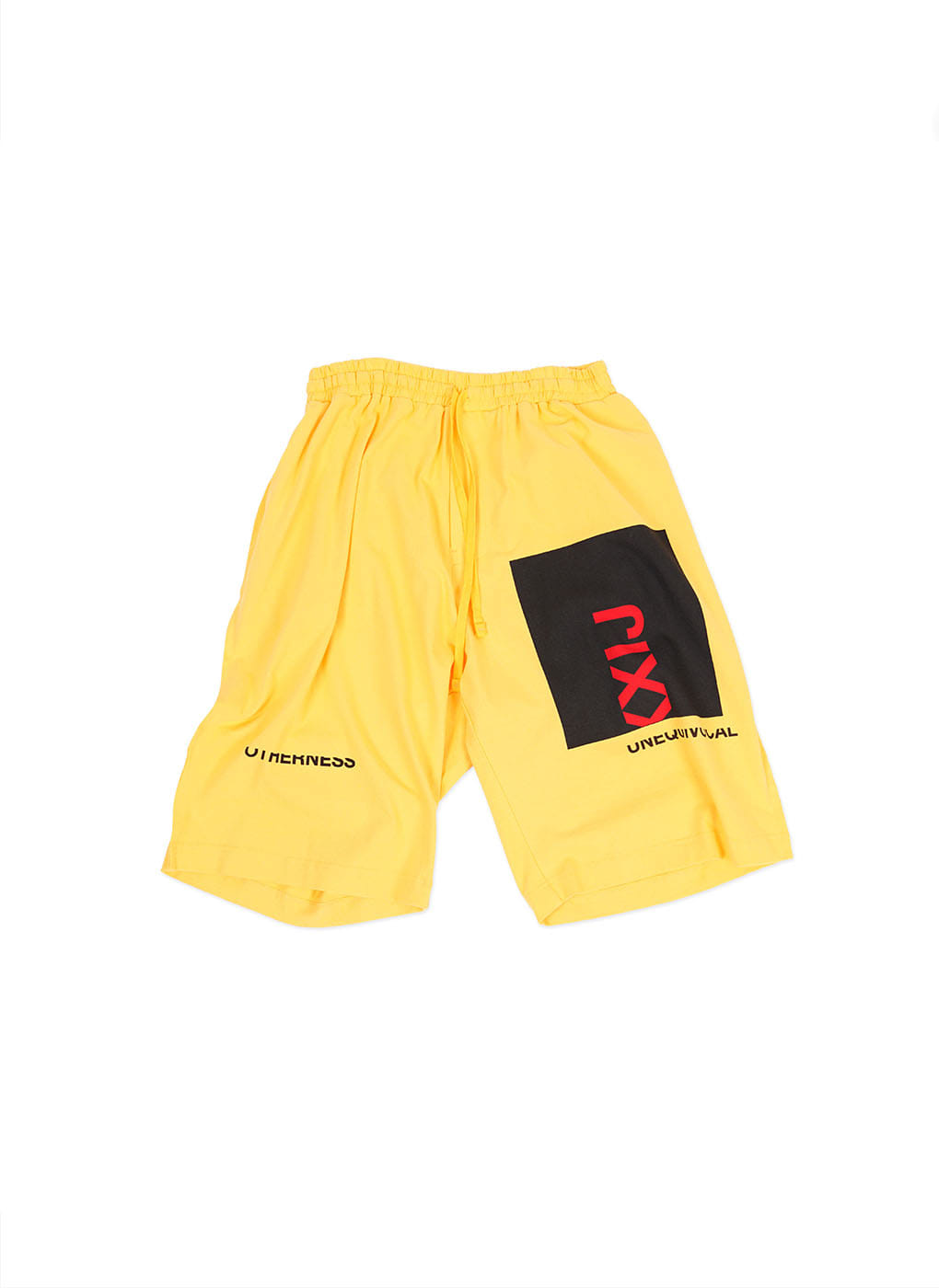 Yellow Collage Printed Light Jersey Wide Trousers