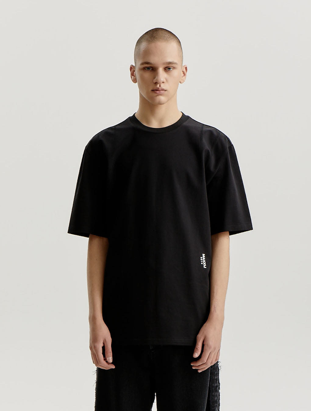 Black Signature Armhole Stitched Jersey T-shirt