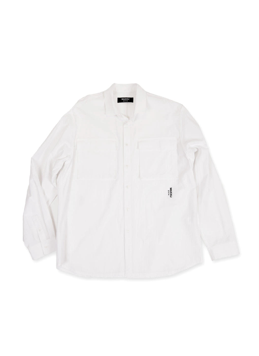 White Military Button Down Oxford Shirt