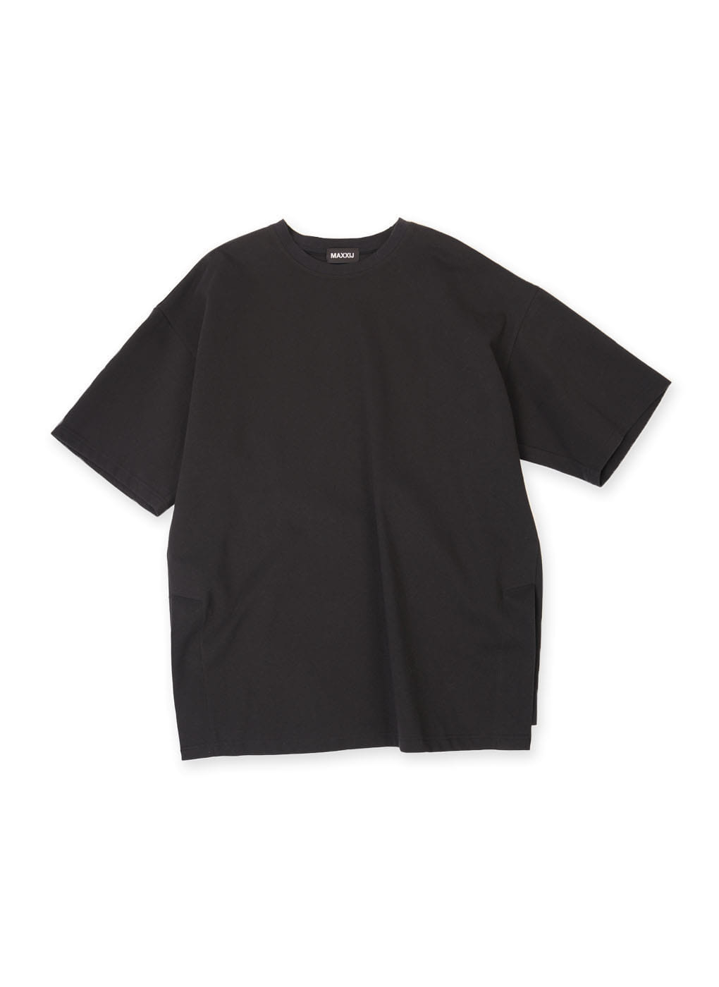 Black Oversized Big Logo Printed T-shirt