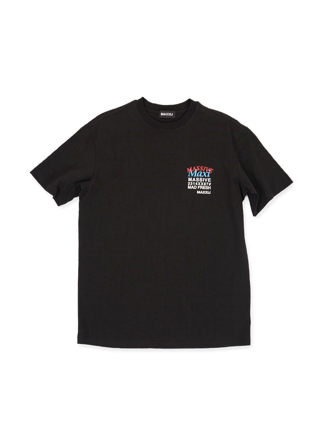 Black 'MAXI' Printed T-shirt
