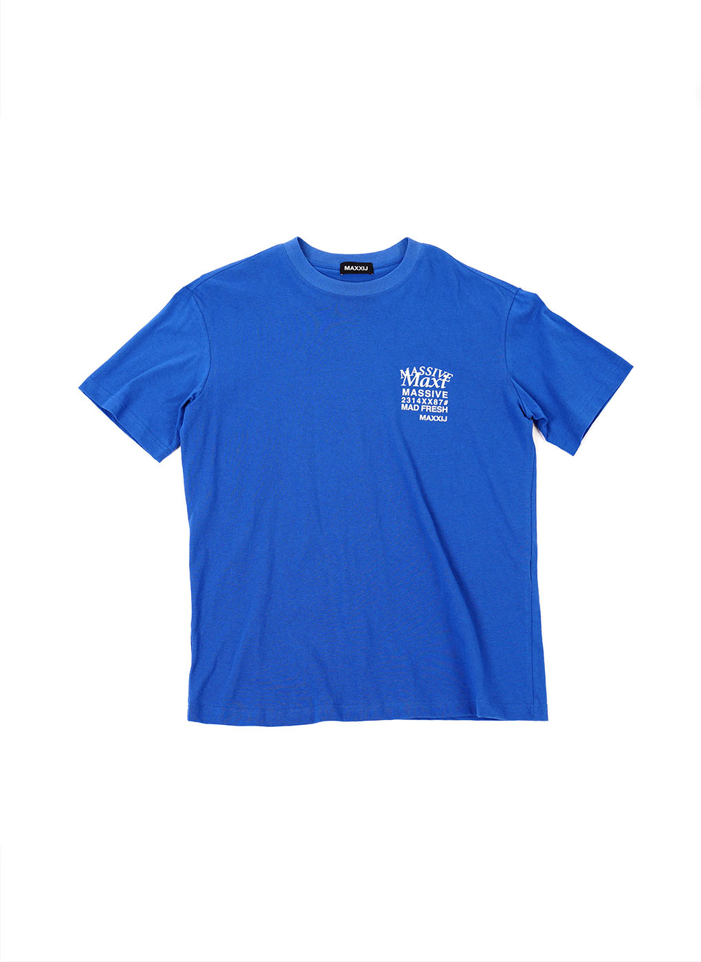 Blue 'MAXI' Printed T-shirt