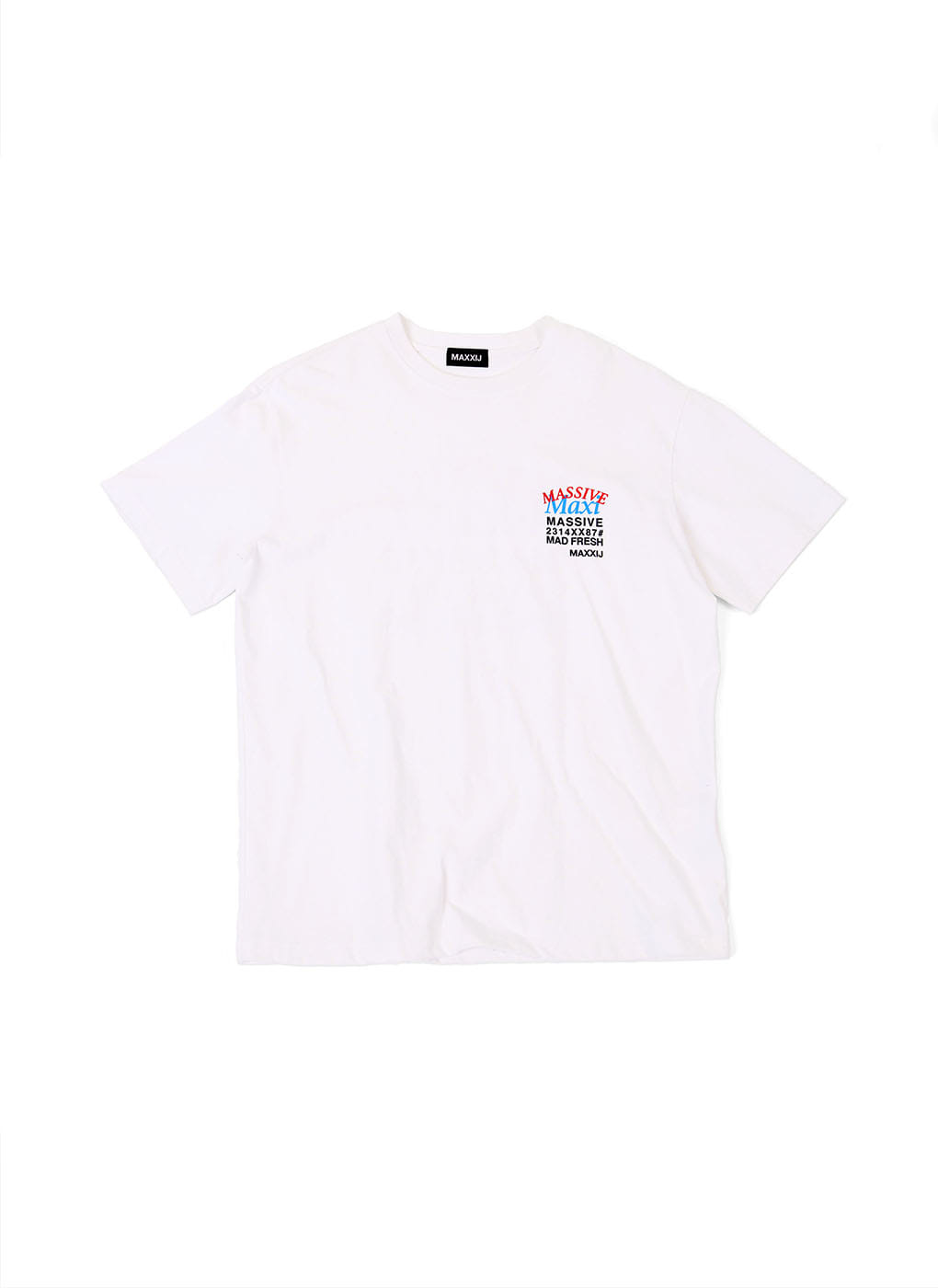 White 'MAXI' Printed T-shirt