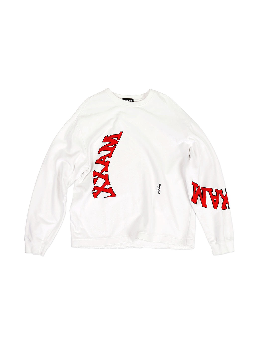 White Collage Printed Sweatshirt