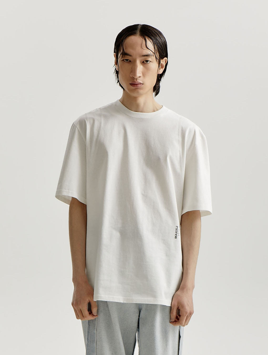 White Signature Armhole Double Stitched Jersey T-shirt