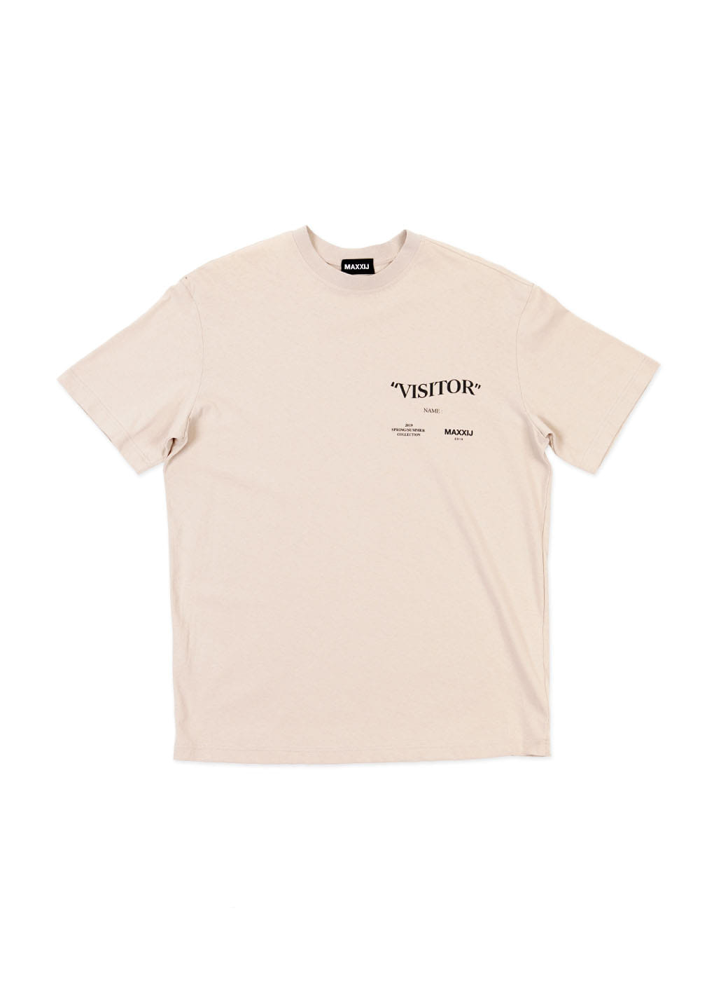 Beige 'Visitor' T-shirt