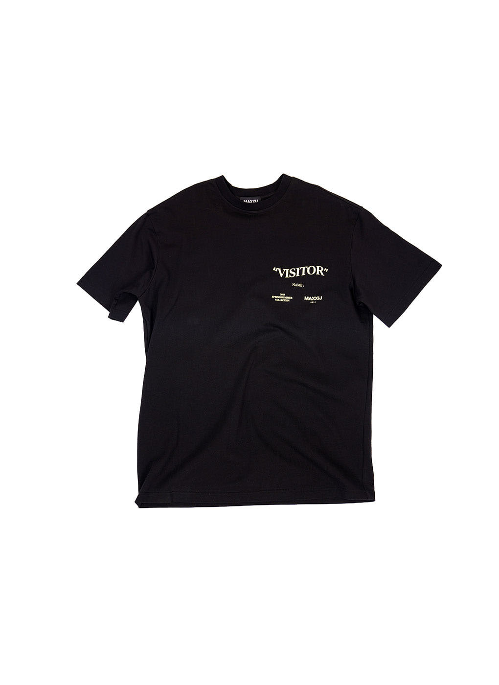Black 'Visitor' T-shirt