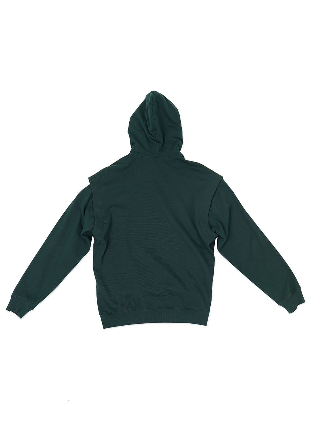 Dark Green Detachable Sleeve Hoodie Sweatshirt