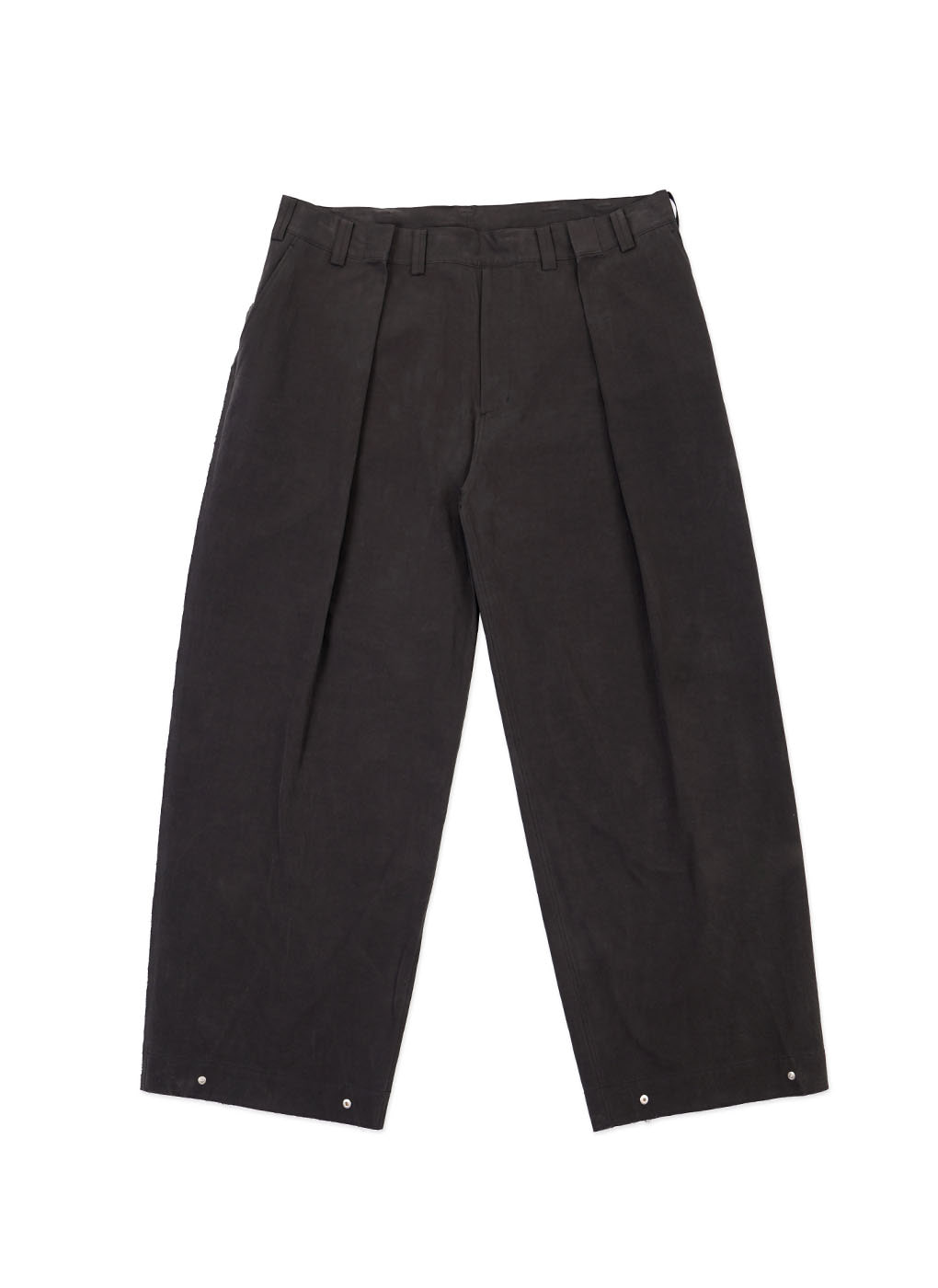 Charcoal Cotton Signature Wide Trouser