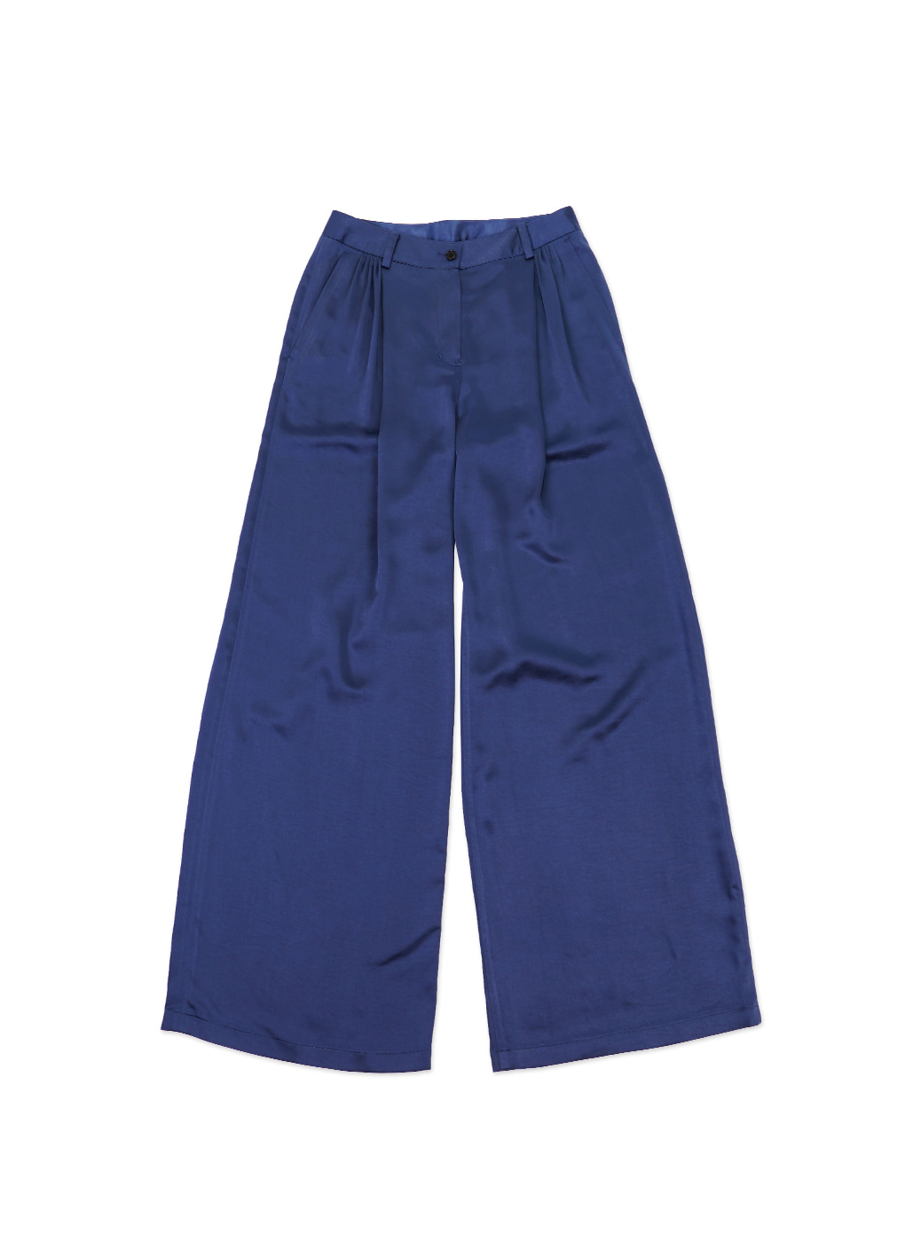 Deep Blue Cotton Loose Trousers