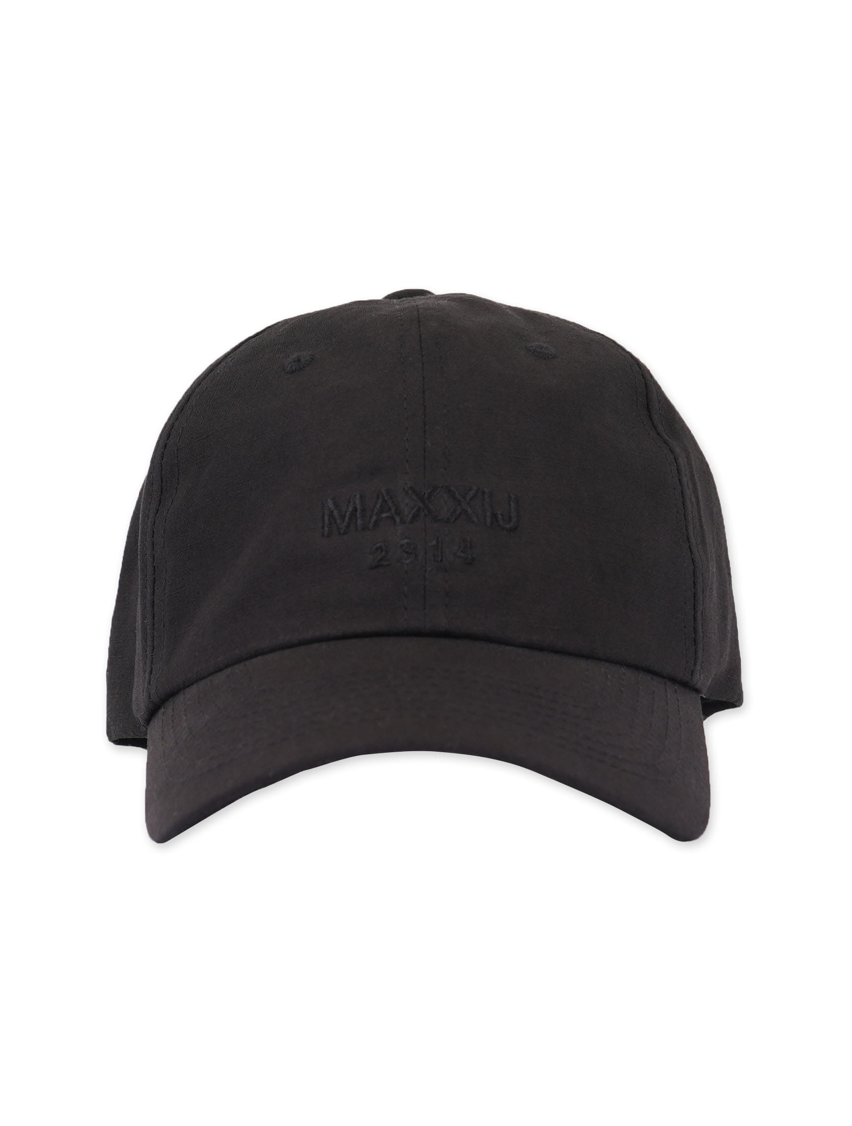 Glossy Black Logo Embroidered Ball Cap