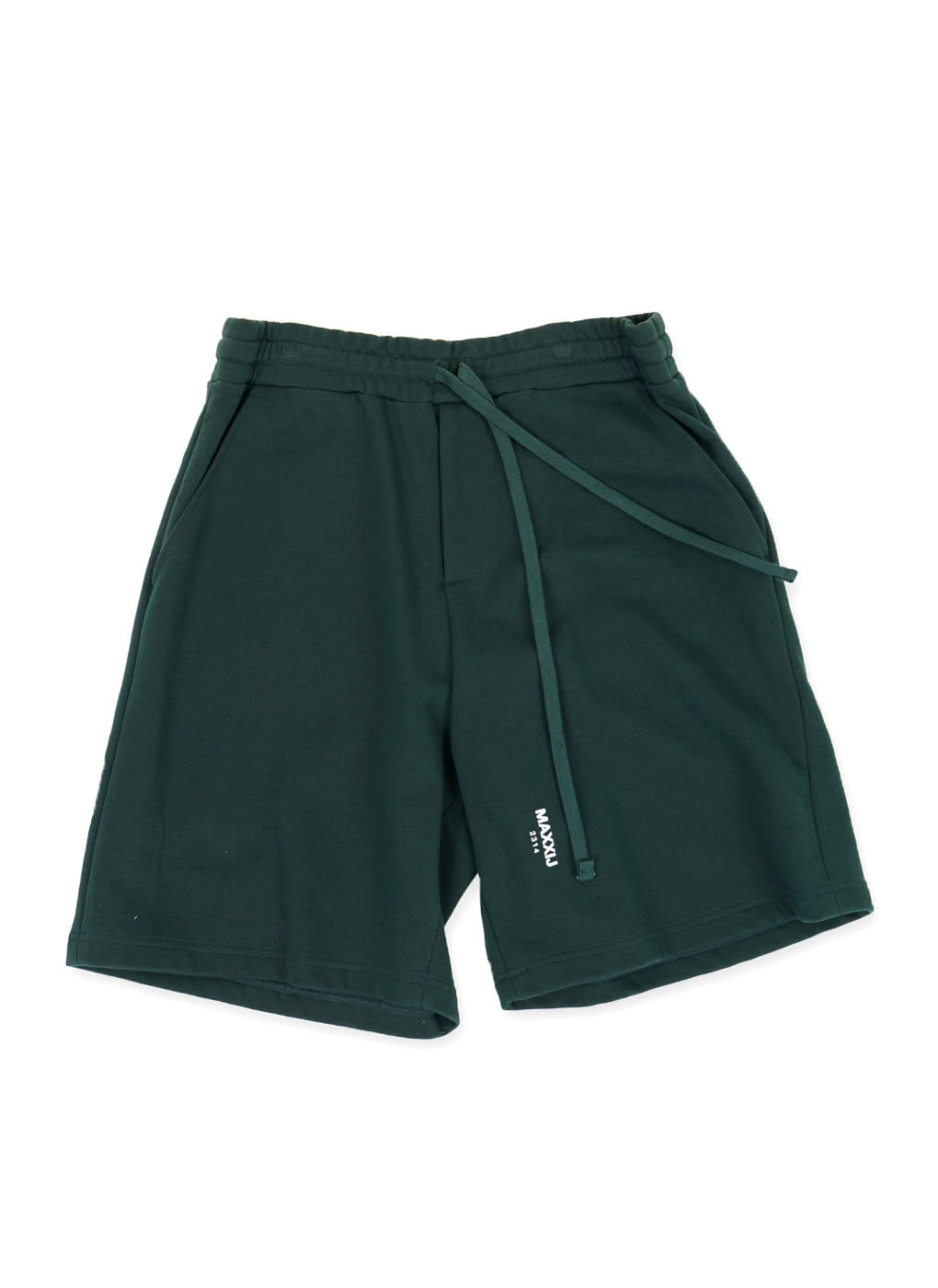 Dark Green Basic Logo Jersey Shorts