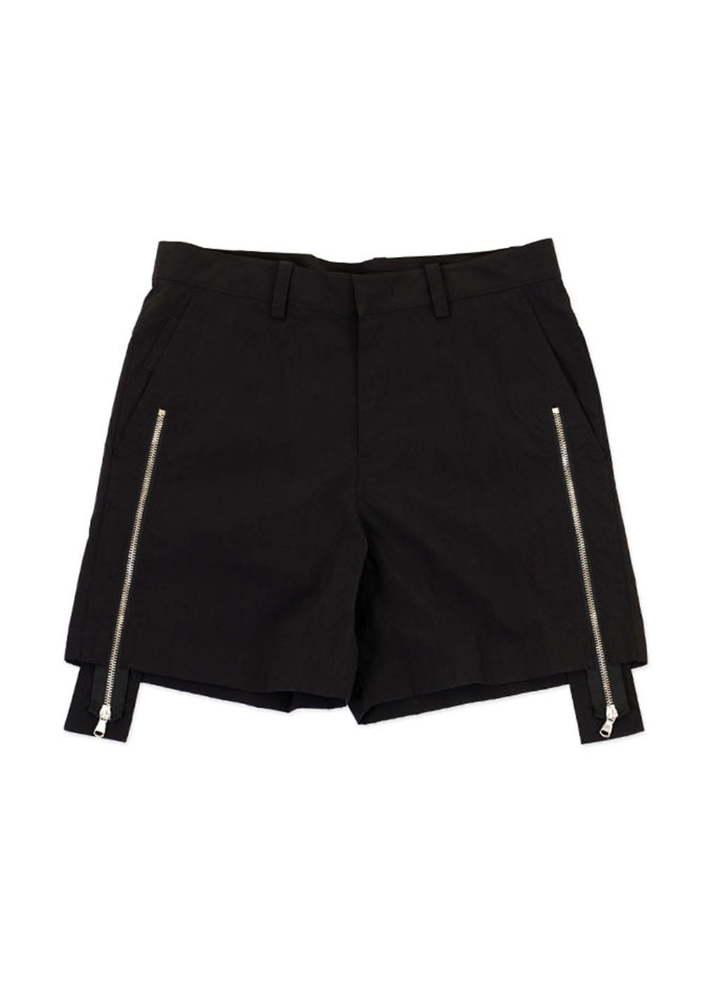 Black Zipper Shorts