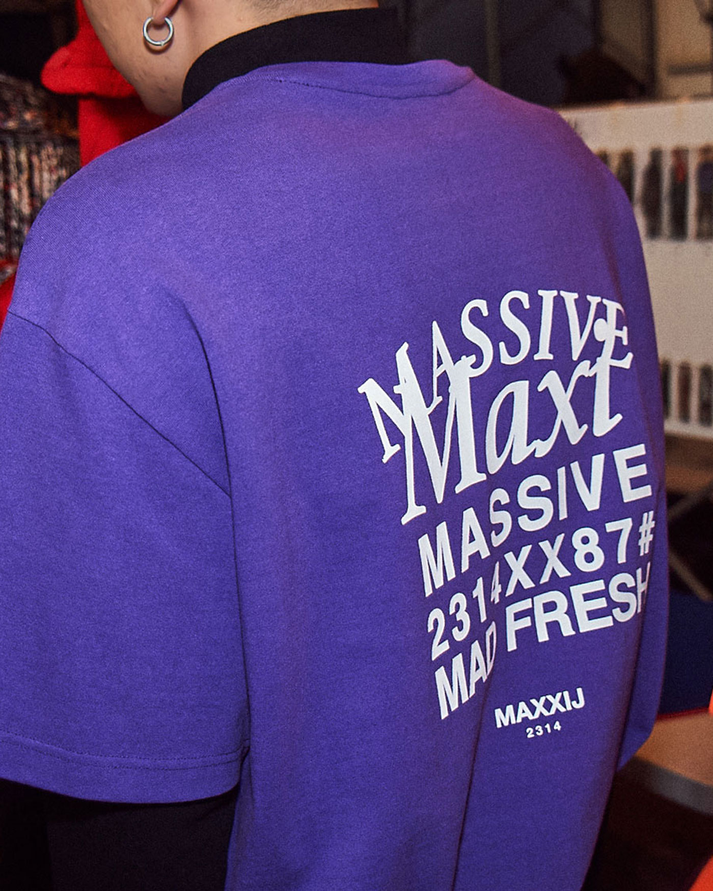 'MAXI' Printed Tshirt Purple