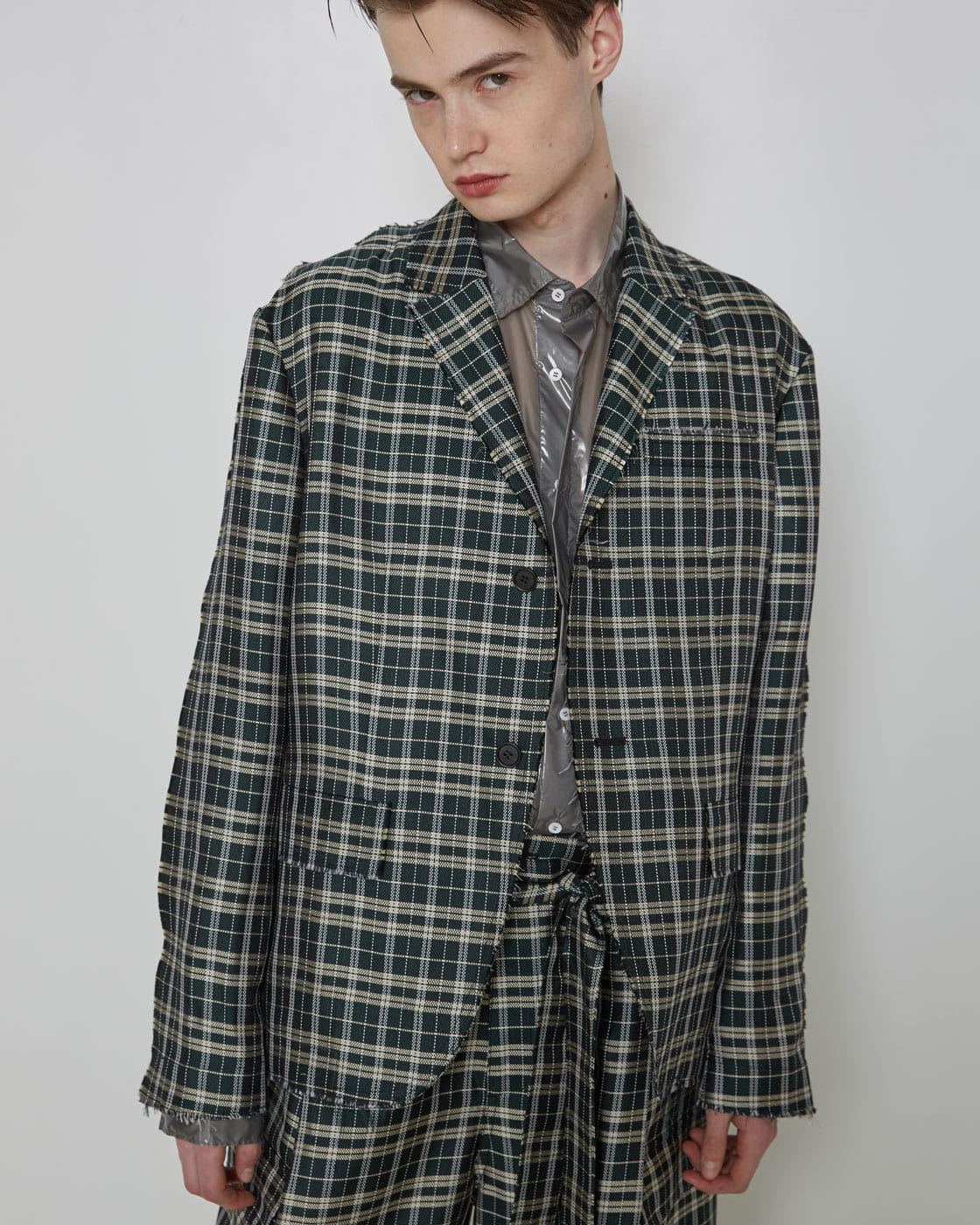 Raw Edges Silk Smart Blazer