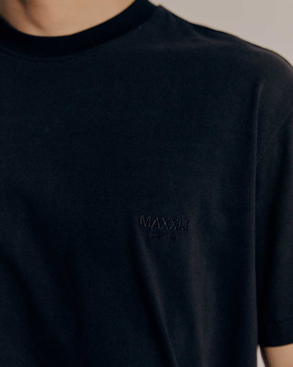 Black Logo Embroidered Cotton Jersey T-Shirts