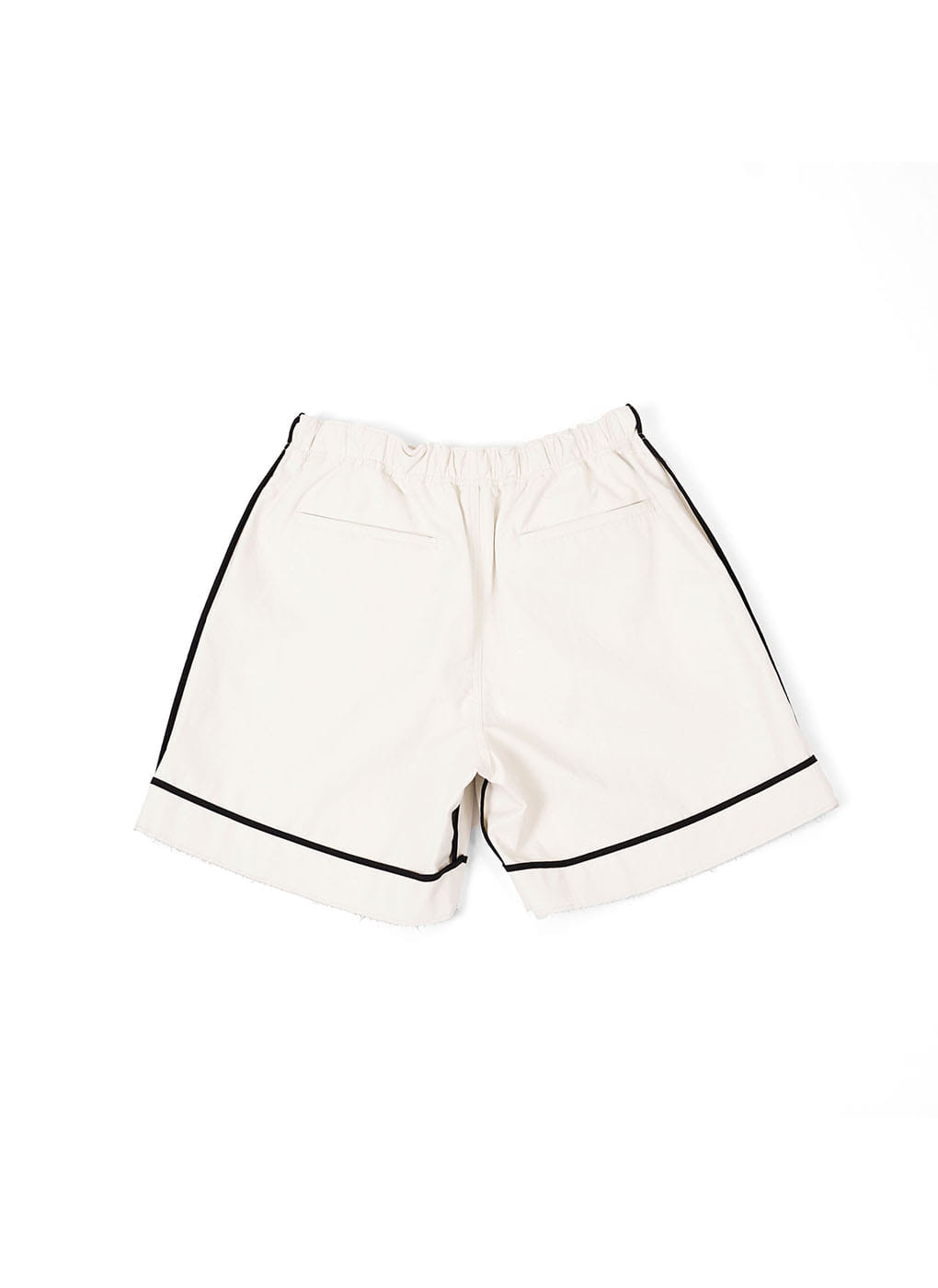 Faux Leather Black Seam Binding Shorts