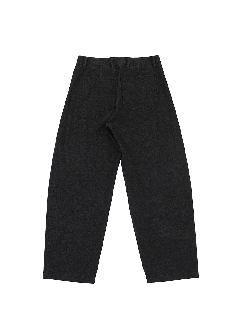 Black Denim Signature Wave Seam Trousers