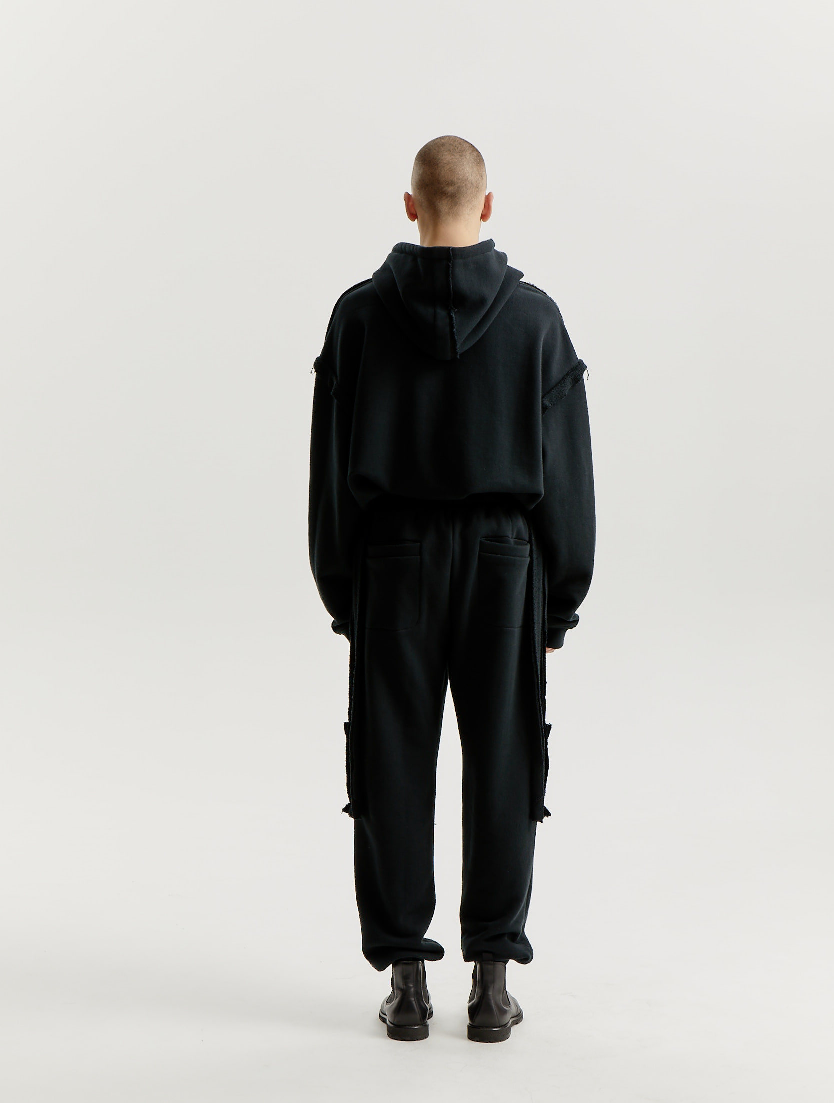 Black Inside Out Patch Signature Jersey Track Pants