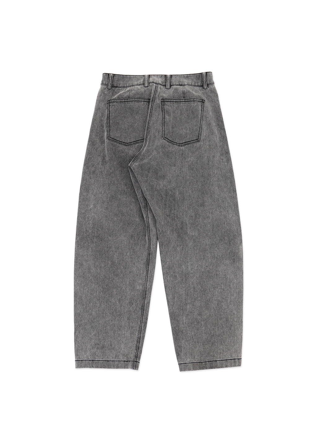 Grey Denim Signature Wave Seam Trousers