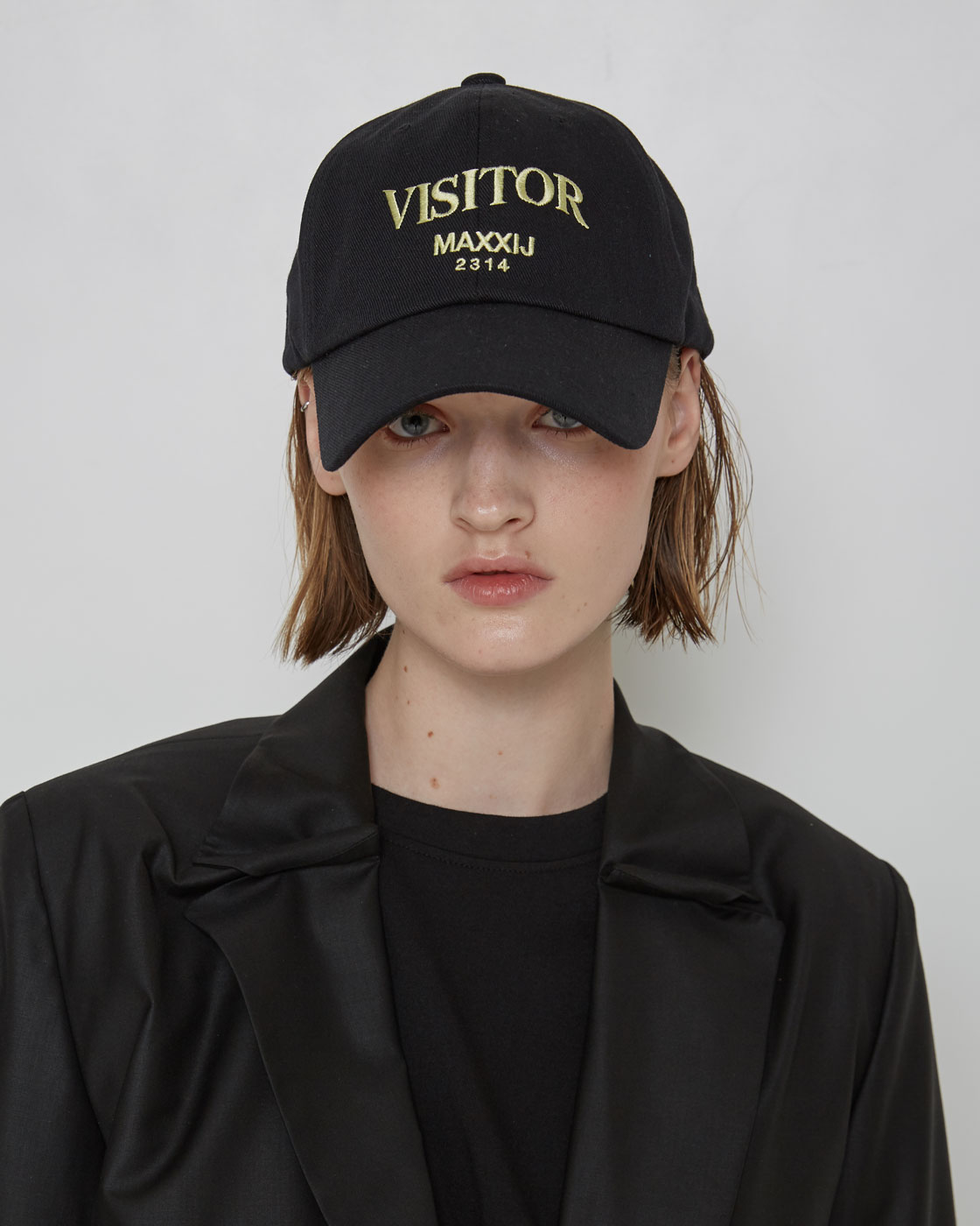 Black 'VISITOR' ball cap