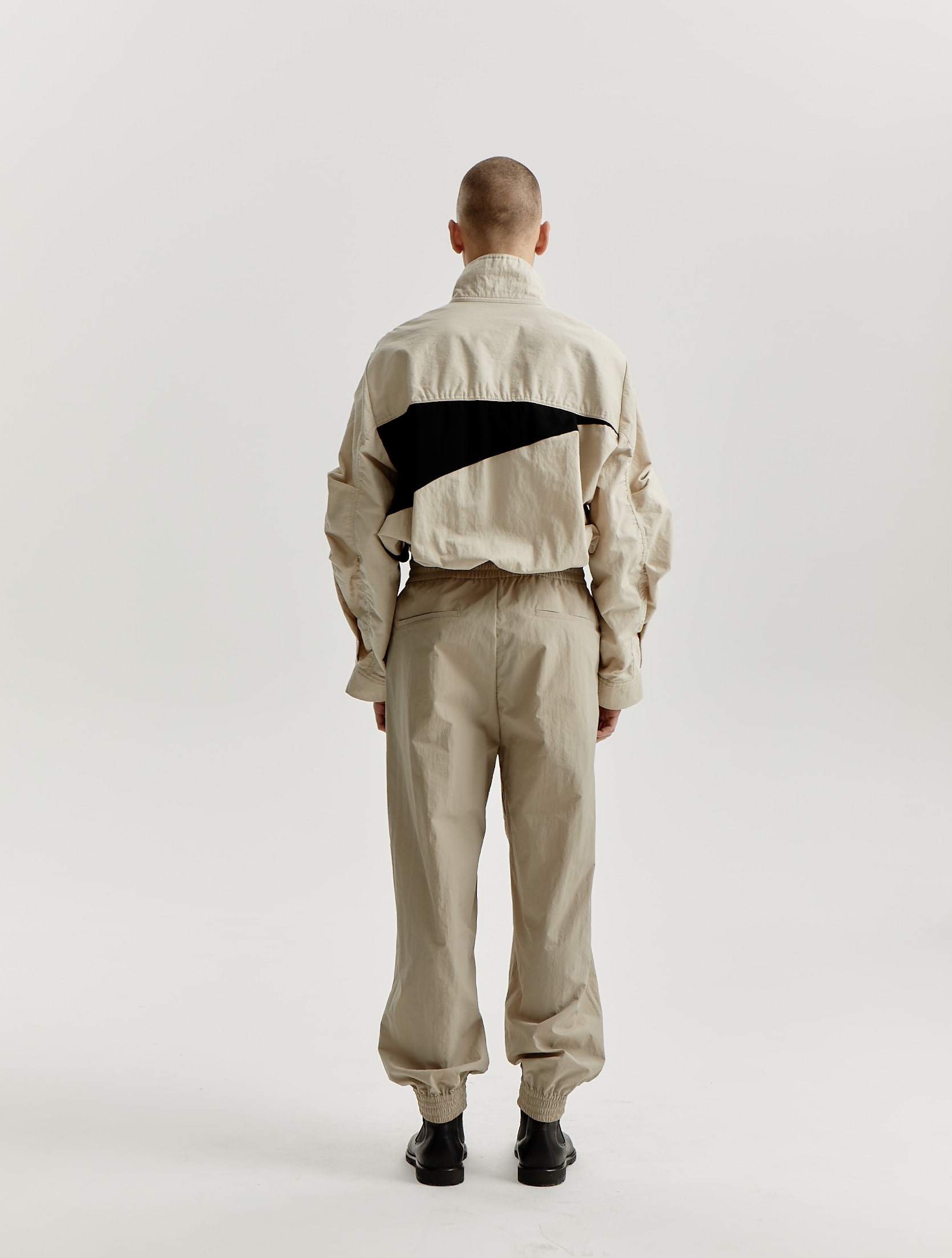 Beige/Black Signature Cut Track Pants
