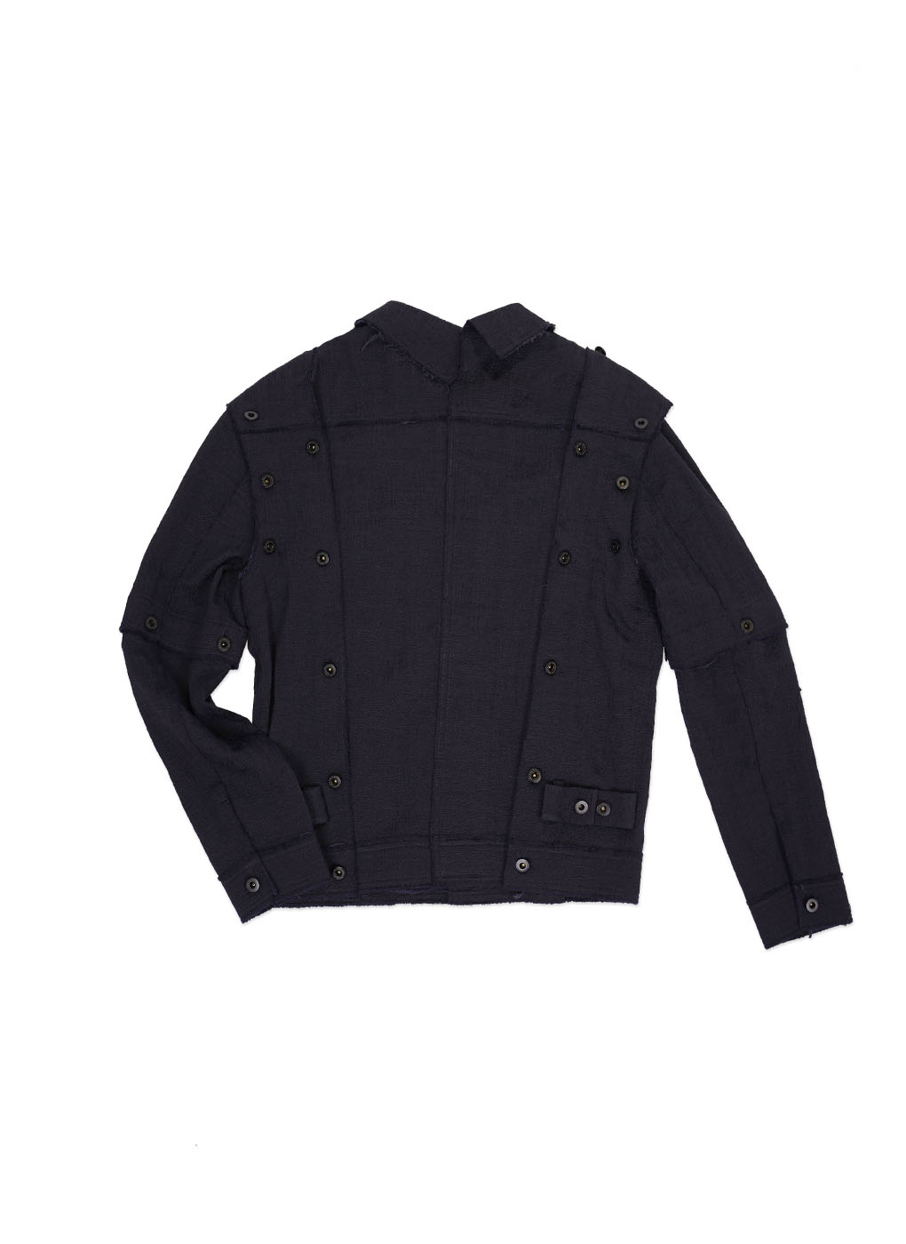 Navy Detachable Multi Panel Blouson Jacket